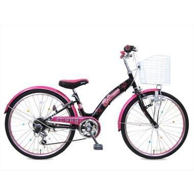 ブリアンナ (BRIANNA) シマノ6段変速 LEDブロックライト 子供用自転車 キッズサイクル 組み立て式 B017B6O1KU 24インチ ピンク ピンク 24インチ