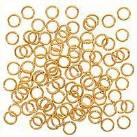 UnCommon Artistry 4mm 21 Gauge Open Jump Rings 22K Gold Plated (100)