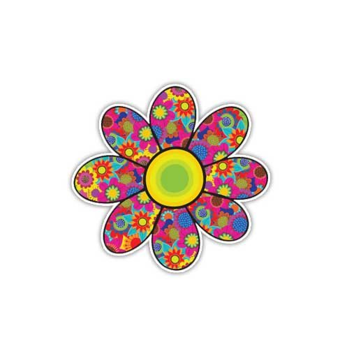 Flower Sticker Daisy Colorful Decal By Megan J Designs - Lap