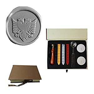 MDLG Vintage The double headed eagle Custom Picture Logo Wedding Invitation Wax Seal Sealing Stamp Set Kit 106