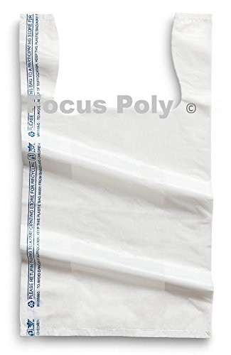 小さなプラスチックバッグホワイト1500カウント8 x 4 x 15ショッピングバッグ、食料雑貨バッグ B01CZ69X4A