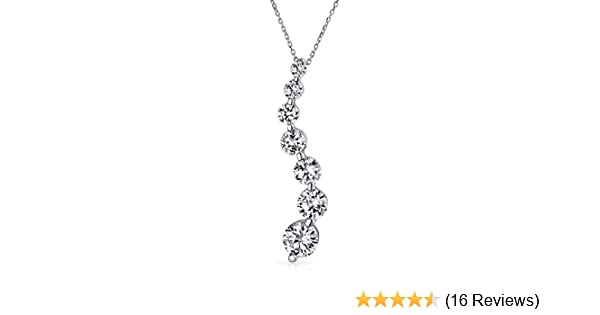 0.50 Ct Round Cut Simulated Diamond Swirl Pendant With Chain .925 Sterling Silver
