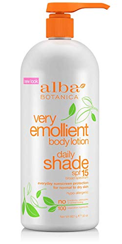 Emollient Lotion Very Body Moisturizing Botanica Alba Lotion (Alba Very Emollient Daily Shade Formula Body Lotion - SPF 15, 32 Ounce - 3 per case)