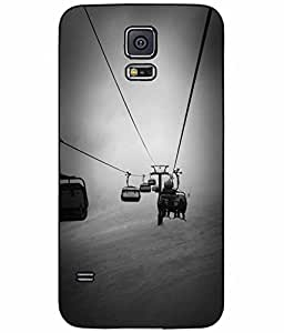 Dark Skies Chair Lift TPU RUBBER SILICONE Phone Case Back Cover Samsung Galaxy S5 I9600 comes with Security Tag and MyPhone Designs(TM) Cleaning Cloth