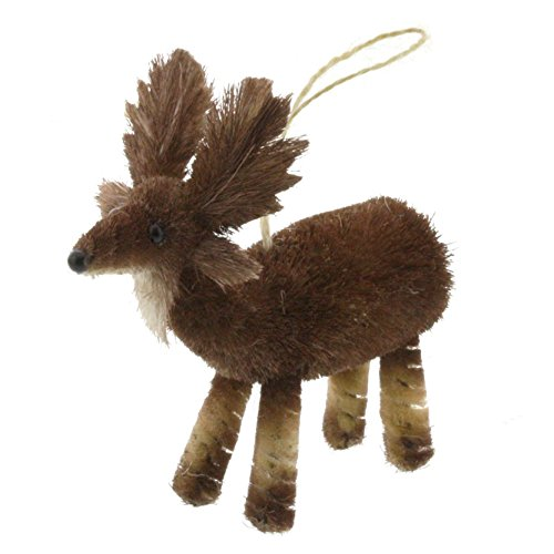 Christmas Tablescape Decor - Moose Bottle Brush Ornaments - Set of 2 by My Swanky Home