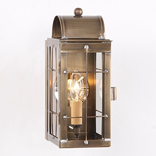 Irvin's Country Tinware Cape Cod Wall Lantern in Weathered Brass ()