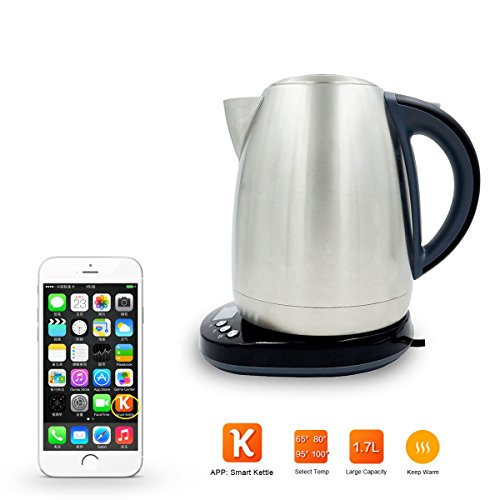AIMOX Smart Wifi Stainless Steel Electric Kettle through Smartphone Remote On/Off Switch and Temperature...