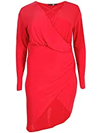 Womens Plus Size Theresa Strappy Wrap Front Dress