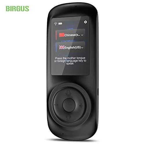 Birgus Voice Translator Device Smart Language Interpreters Device with 2.4inch Capacitive Touch Screen Support Multi- Languages Freely Translation Machine Business Shopping Interpreter (Electronic Pocket Translator)