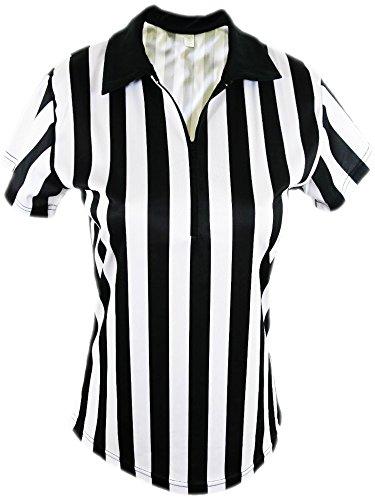 Mato & Hash Women's 1/4 Zip-Up Quarter-Zip Referee Short Sleeve Ref Tee Shirt CA1500 (Womens Referee Costume)