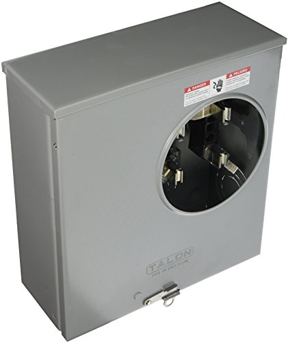 Meter Siemens (Siemens SUAS877-PPZA Meter Socket with 4 Jaw, Ringless Cover, Horn Bypass, Underground Feed, Side Wired and 7/16 Barrel Lock, 200-Amp)