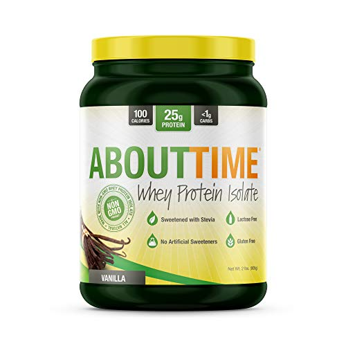 About Time Whey Isolate Protein, Non-GMO, All Natural, Lactose/Gluten Free, 25g of Protein Per Serving (Vanilla - 2 (Life Protein Powder Natural)