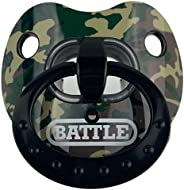 Battle Sports Binky Oxygen Lip Protector Football Mouthguard for Adults and Youth (Green Camouflage)
