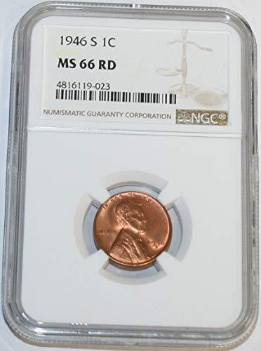 1946 S Lincoln Cent MS66 NGC RD