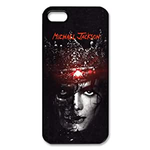 Custom Michael Jackson Hard Back Cover Case for iPhone 5,5S TPU (Laser Technology)