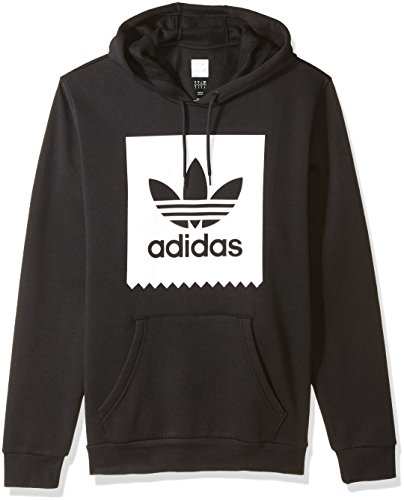 Trefoil Adidas Hoodie (adidas Originals Men's Solid Bb Hoodie, Black/White, Large)