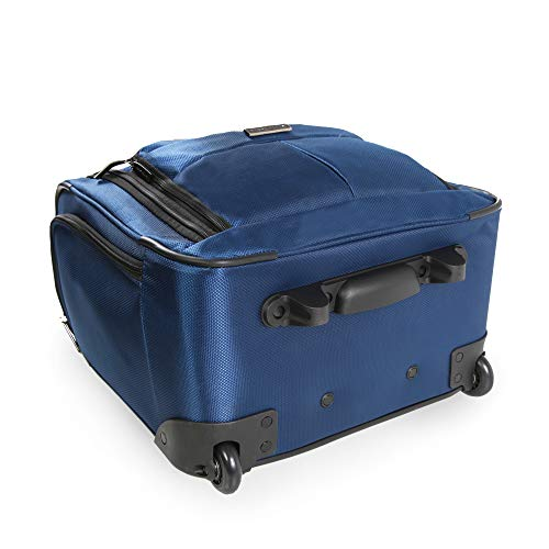 41pHYoKOfrL - Perry Ellis Men's Excess 9-Pocket Underseat Rolling Tote Carry-on Bag Travel, Navy, One Size