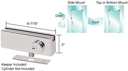Patch Lock Keeper (C.R. LAURENCE AMR205BS CRL Brushed Stainless AMR Series Patch Lock)