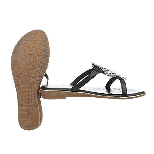 Femme Ital Sandales Plat Chaussures 1 Tongs Js199 Noir Havaianas FitFlop Design 1qBH1RfO