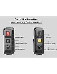 (Última generación) PatrolMaster 1296P UHD Body Camera con audio (64GB incorporado), pantalla de 2 pulgadas, visión nocturna, impermeable, a prueba de golpes, con cuerpo y cámara de diseño compacto, cámara de policía para el cumplimiento de la ley