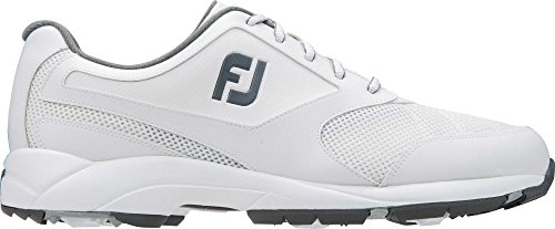 FootJoy Athletics Spikeless Golf Shoe (10.5 Medium, White) (Footjoy Golf Shoes Spikeless)