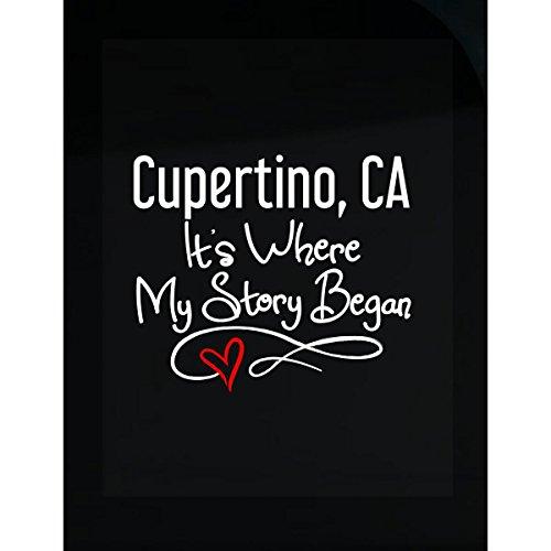 Cupertino Ca Where My Story Began Hometown Home City Birth   Sticker