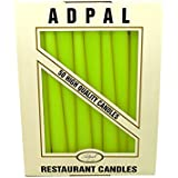 4 x 21cm Tall Table Candles Non Drip Tapered End for Dinner Wedding Christmas 6.5h Burning Time by Sola