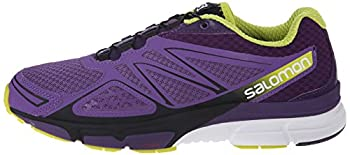 Salomon Women's X-scream 3d W Trail Running Shoe, Rain Purplecosmic Purplegecko Green, 9 B Us 4