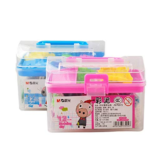 Stationery Set - 12 color stationery suit rubber mud student color clay suit puzzle class mud toys clay - by NIKOSU