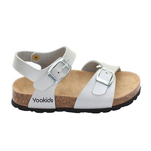 YOOKIDS - Tongs / Sandales - Kiwi - Argent