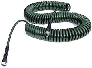 product image for Water Right Professional Coil Garden Hose, Lead Free & Drinking Water Safe, 75-Foot x 3/8-Inch, Forest Green
