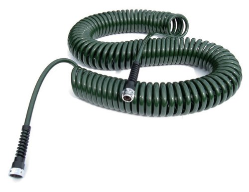 - Water Right Professional Coil Garden Hose, Lead Free & Drinking Water Safe, 75-Foot x 3/8-Inch, Forest Green