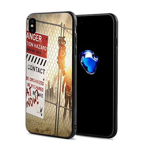 Phone Case Cover for iPhone X XS,Dead Man Walking Dark Danger Scary Scene Fiction Halloween Infection Picture,Compatible with iPhone X/XS -