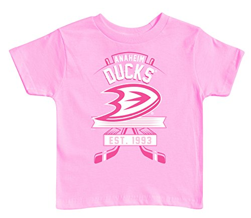 NHL-Anaheim-Ducks-Kids-Tee-5-6-Pink