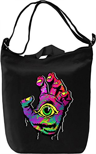 All Seeing Hand Borsa Giornaliera Canvas Canvas Day Bag| 100% Premium Cotton Canvas| DTG Printing|