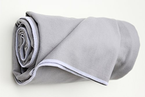 """Half-lotus Hot Yoga Towel- Best Yoga Towel for Bikram Yoga, 100% Microfiber, Soft Suede, Skidless Anti-slip, Super Absorbent and Thirsty, Covers Any Mat, 72""""Long 26"""" Wide, More Grippy and Non-slip Allows More Focus on Your Zen, Best Double Guarantee."""