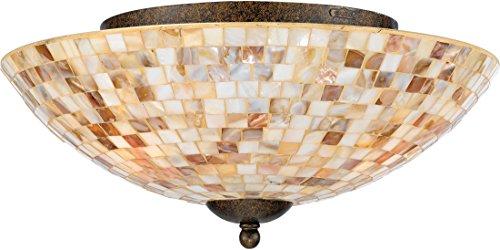 "Quoizel MY1613ML Monterey Mosaic Flush Mount Ceiling Lighting, 3-Light, 180 Watts, Malaga (7"" H x 16"" W) from Quoizel"