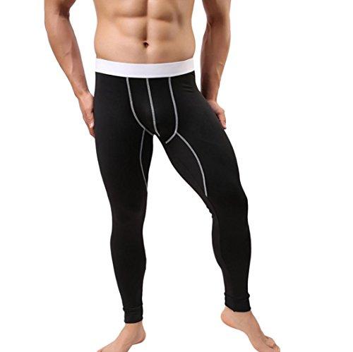 Clearance Sale! Men Pants WEUIE Men's Baselayer Underwear Warm Cotton Legging Pants Thermal Trousers (28-38 Waist, Black)