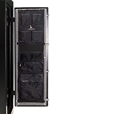 Liberty Door Panel - Fits Gun Safe Models 17 - Accessory and Organizer for Pistols, Handguns, Ammunition, Magazines, Choke Tubes and Other Security Products - Item 10584 - Black