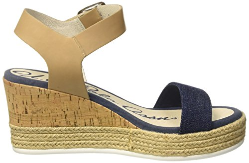 ASSN de Mujer Natural Nat Sandalias S Multicolor jeans Tira jeans para T con POLO Niva U q70EvwH