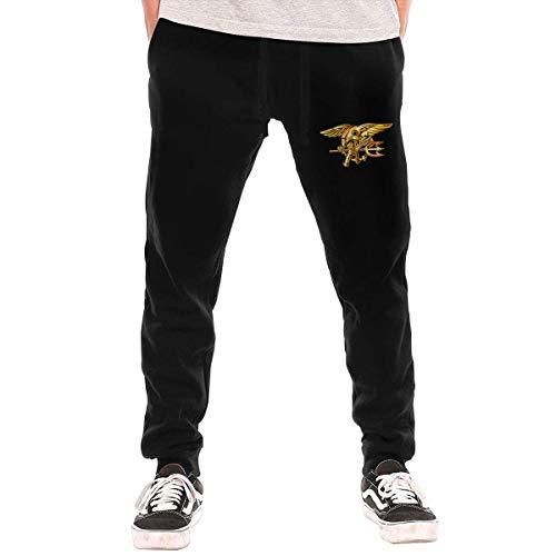 US Navy Trident Seal Men's Sweatpants Men's Athletic Pants Black