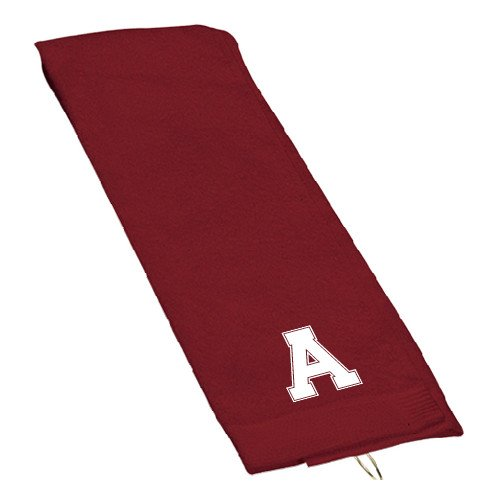 Alma College Maroon Golf Towel 'Official Logo' by CollegeFanGear