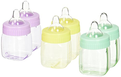 Amscan Cute Fillable Mini Bottles Assorted Pastel Colors Baby Shower Party Favors]()