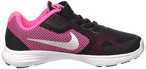 NIKE Kids' Revolution 3 Running Shoe (PSV), Black/Metallic Silver/Hyper Pink/White, 1.5 M US Little Kid by Nike (Image #7)