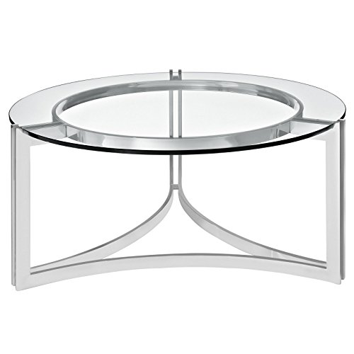 Cheap Modway Signet Stainless Steel Coffee Table in Silver
