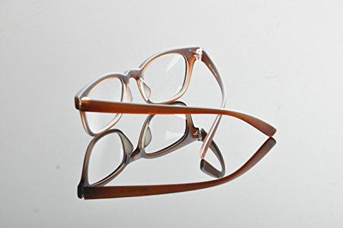 Optique de Ding Unisexe Myopie Lunettes Cadre marron mat