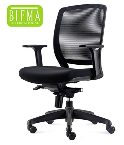 Chairlin Adjustable Home Office Chair with Arms Mid Back Mesh Task Chair ()