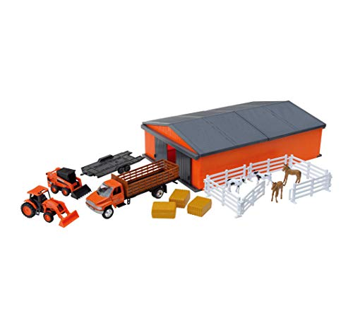 Kubota Horse and Farm Tractor Playset w/ Shed