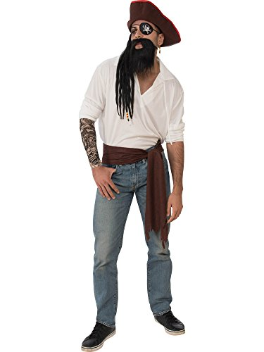 Rubie's Men's Deluxe Adult Accessory Kit, Pirate, One Size -