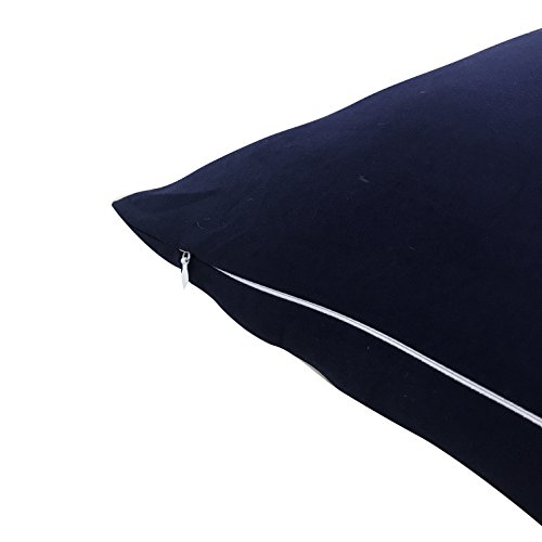 Evolive very soft Microfiber Body Pillow Cover Replacement 21x 54 along with Zipper Closure Navy